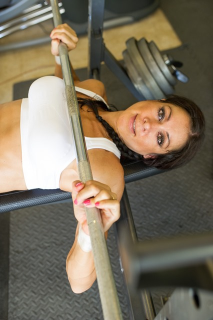 Weight Training for Women - Fit Girl bench pressing