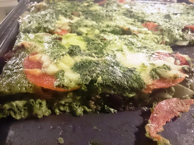 Ultra-Low Carb Spinach Pizza