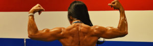 Muscular female fintess back picture
